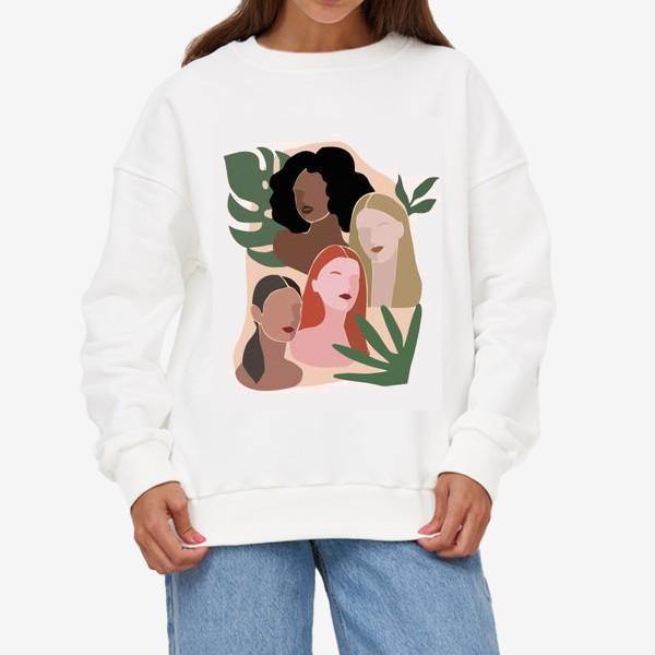 Свитшот «Девушки и пальма»