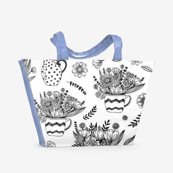 Пляжная сумка «Весенние цветы»
