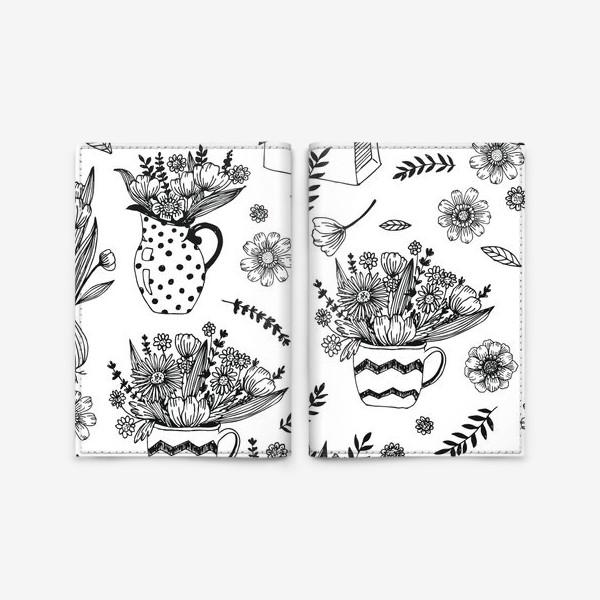 Обложка для паспорта «Весенние цветы»