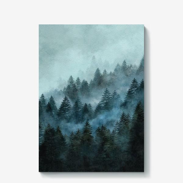 Холст «Туманный лес»