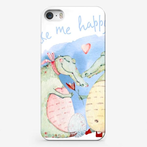 Чехол iPhone «Крокодилье счастье»