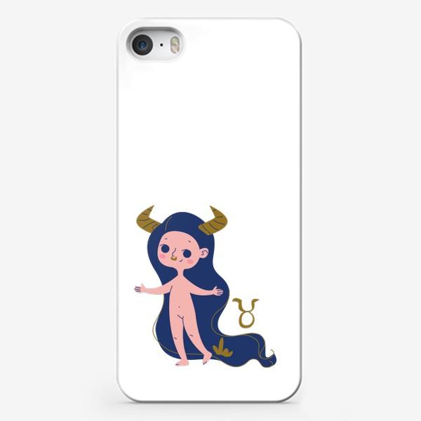 Чехол iPhone «Телец знак зодиака. голышка малышка»