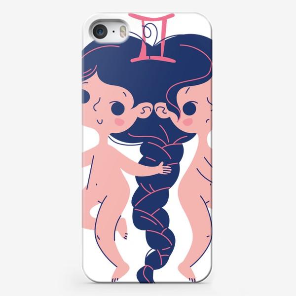 Чехол iPhone «близнецы зодиак. Малышки голышки»