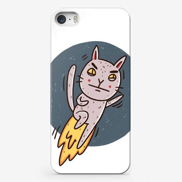 Чехол iPhone «Недовольный котик и многозадачность. Дедлайн. Сроки горят»