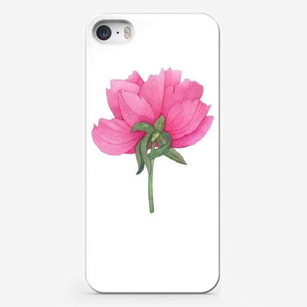 Чехол iPhone «Розовый пион 2»