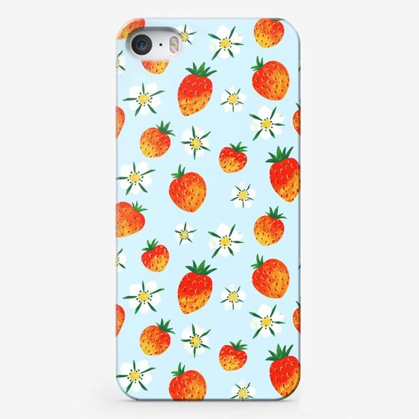 Чехол iPhone «ЗЕМЛЯНИЧНЫЙ ПАТТЕРН»