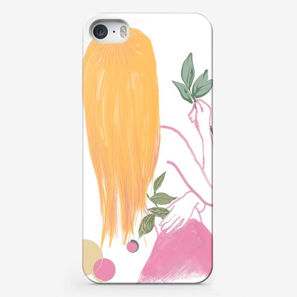 Чехол iPhone «девушка среди растений»