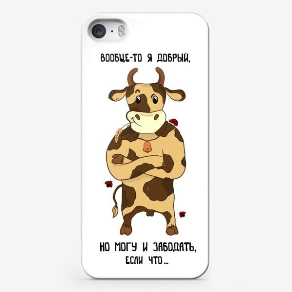 Чехол iPhone «Добрый бык - подарок тельцам»