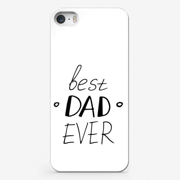 Чехол iPhone «лучший папа в мире. подарок папе, отцу, мужу. парные футболки»