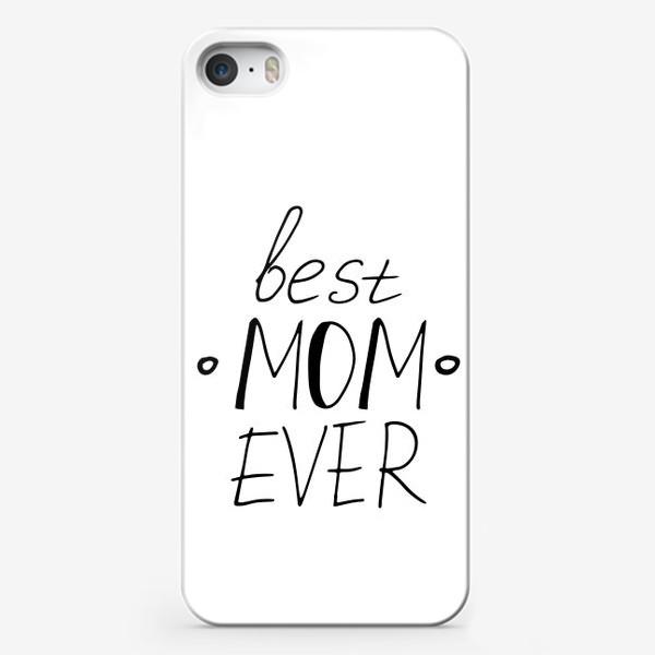 Чехол iPhone «лучшая мама в мире. подарок маме, матери, жене. парные футболки»