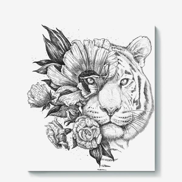 Холст «Floral tiger»