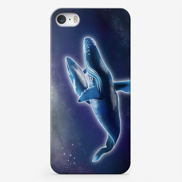 Чехол iPhone «Киты в Космосе »