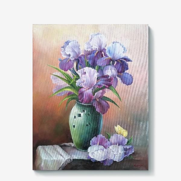 Холст « букет весенних цветов ирисов»
