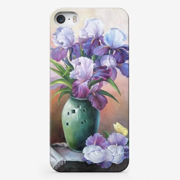 Чехол iPhone « букет весенних цветов ирисов»