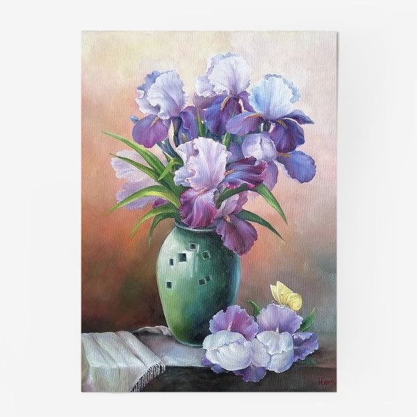 Постер « букет весенних цветов ирисов»