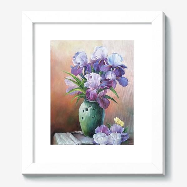 Картина « букет весенних цветов ирисов»