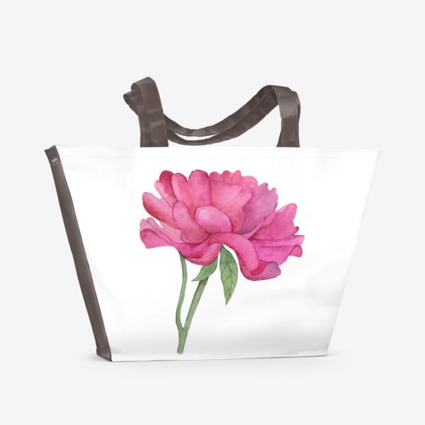 Пляжная сумка «Розовый пион»