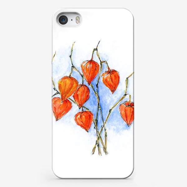 Чехол iPhone «Осенние фонарики. Физалис.»