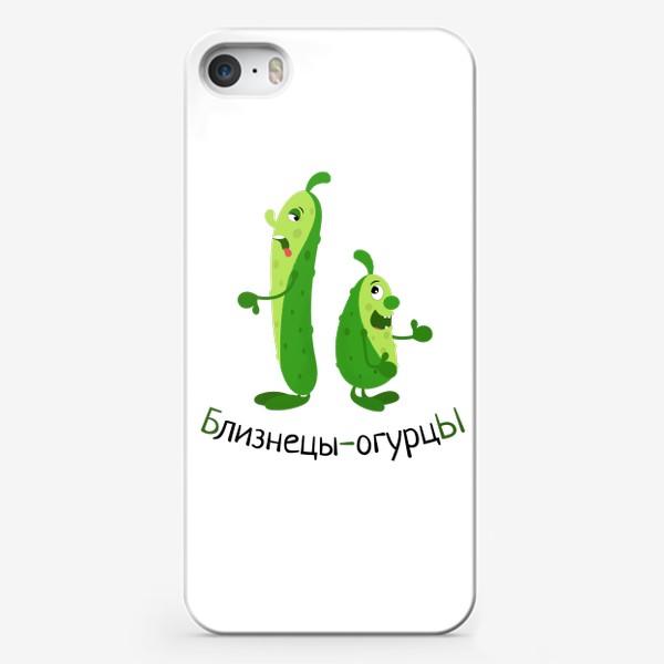 Чехол iPhone «Близнецы-огурцы»