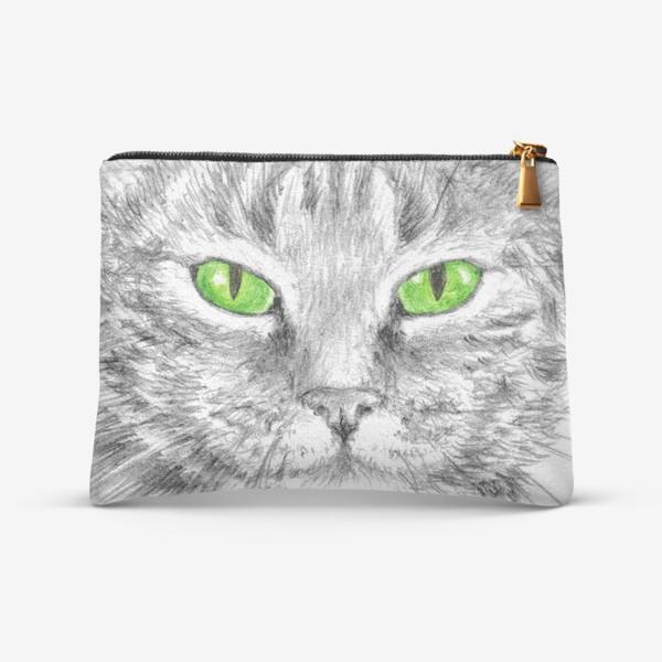 Косметичка «Кот. Зеленые глазки.»