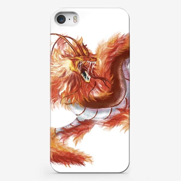 Чехол iPhone «Красный Огненный Дракон »