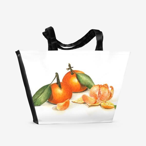 Пляжная сумка «Сочные мандарины»