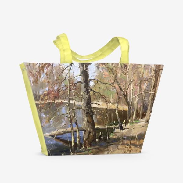 Пляжная сумка «Ранняя весна»