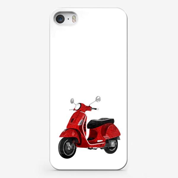 Чехол iPhone «Италия. Красный мотороллер»