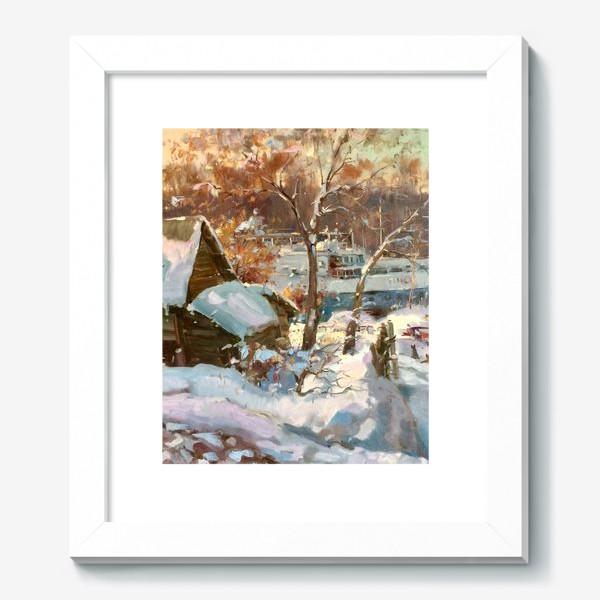 Картина «Зима не отступает»