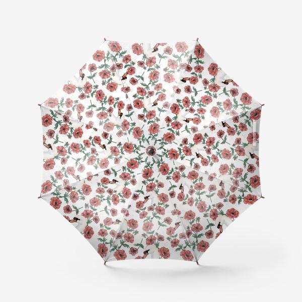 Зонт «Лебедь с анемонами »