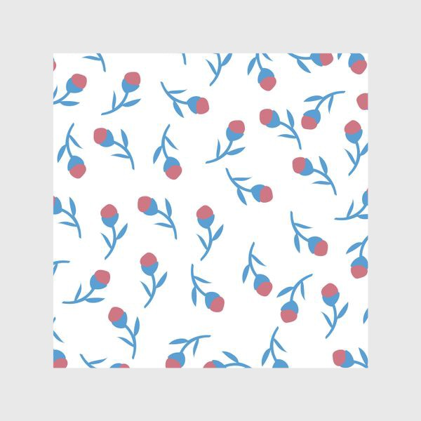 Шторы «Минималистичные цветы»