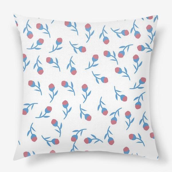 Подушка «Минималистичные цветы»