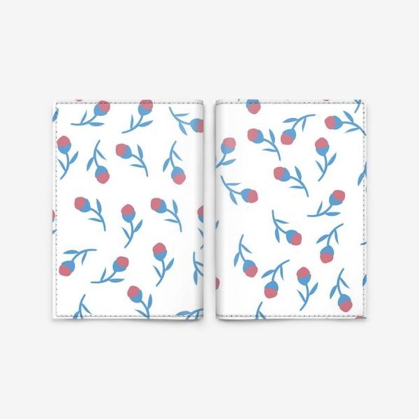 Обложка для паспорта «Минималистичные цветы»