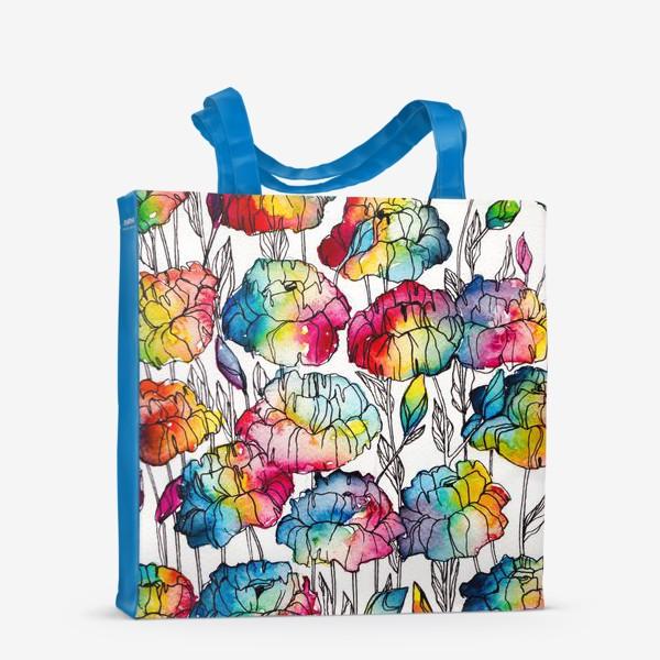Сумка-шоппер «Цветы радуги»
