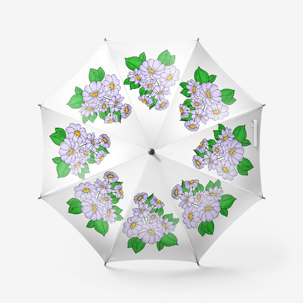Зонт «Лавандовые ромашки»