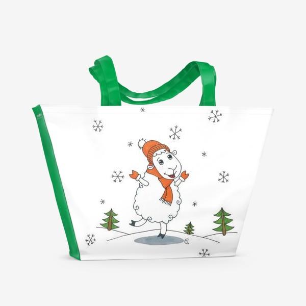 Пляжная сумка «Снегопад»