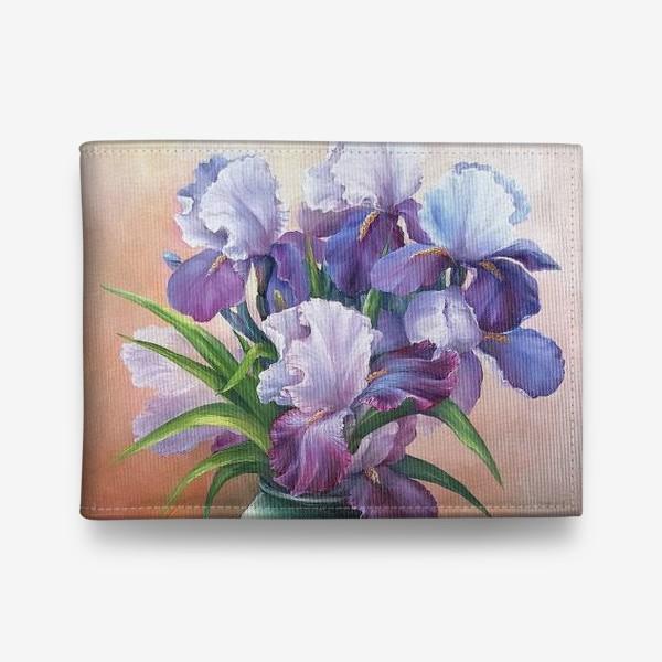 Кошелек « букет весенних цветов ирисов»
