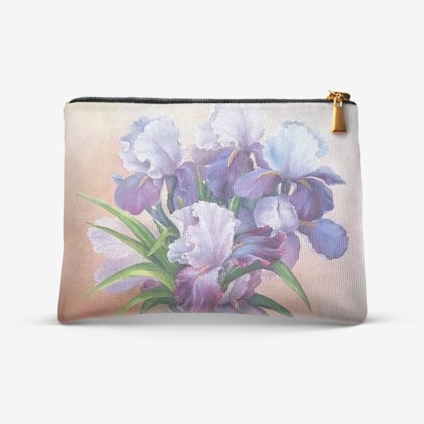 Косметичка « букет весенних цветов ирисов»