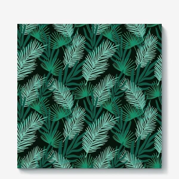 Холст «Тропические листья»