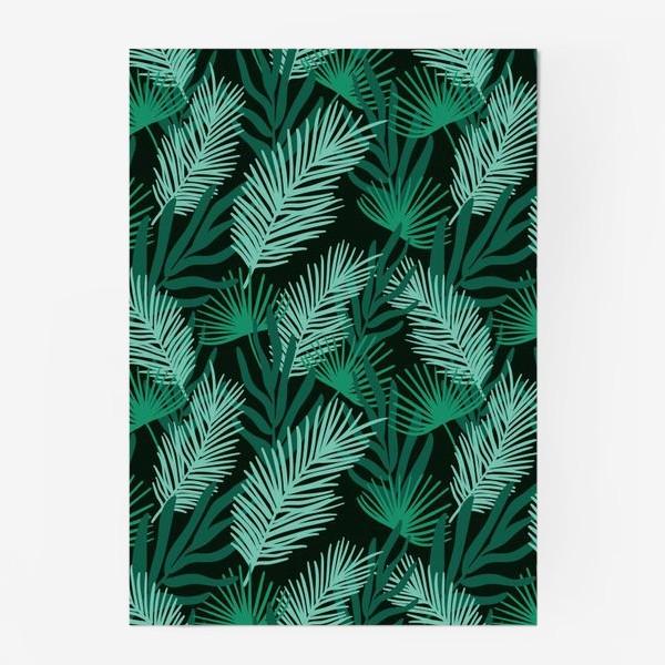 Постер «Тропические листья»