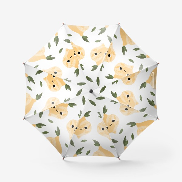 Зонт «Милый лимон. Детский фруктовый паттерн»