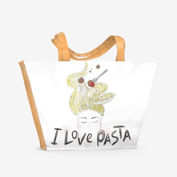 Пляжная сумка «Ilovepasta»