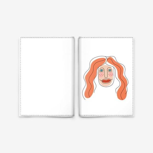 Обложка для паспорта «Портрет рыжеволосой девушки.  Симпатичная рыженькая девчонка »