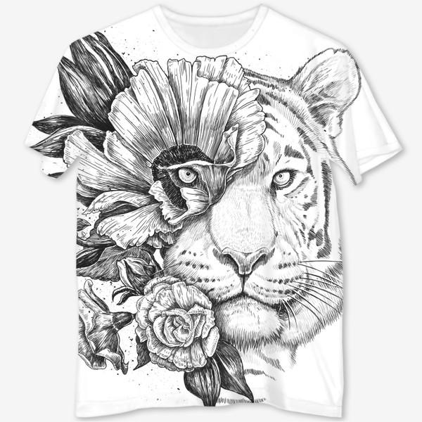 Футболка с полной запечаткой «Floral tiger»