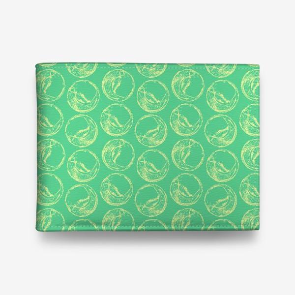 Кошелек «Теннисные мячи на зеленом фоне»