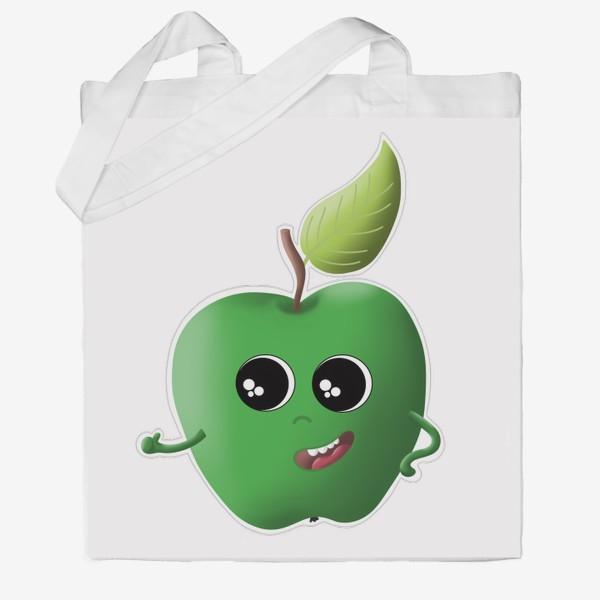 Сумка хб «Apple green»