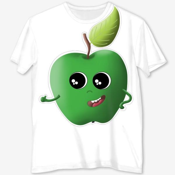Футболка с полной запечаткой «Apple green»