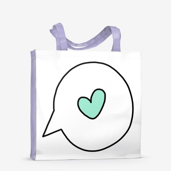 Сумка-шоппер «Поговорим о любви..»