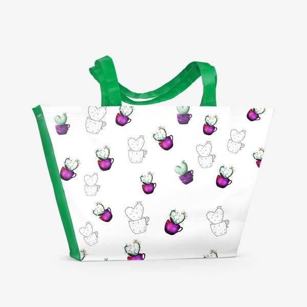 Пляжная сумка «Космические кактусы»
