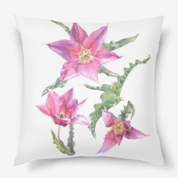 Подушка «Сиреневые тюльпаны »